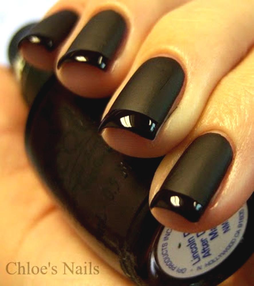 Маникюр шеллак фото черного цвета